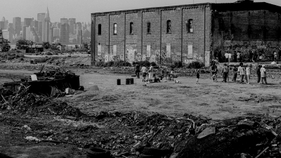 Desolate factory floor was a shelter for homeless people in Greenpoint, phot. W. Kubik
