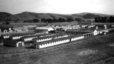 A view of the camp. In front, the girls' dormitory, pictures provided by the Polish Children's Reunion Committee
