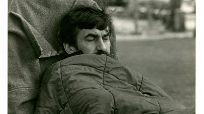Ryszard during the hunger strike in Denmark, from the private archives