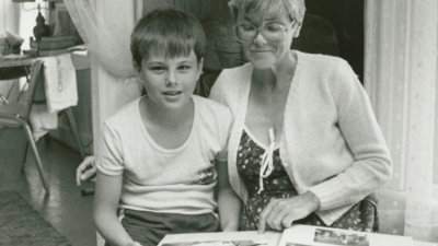 Elżbieta with her son Wojtek, Utica NY, 9th July 1988, from the private archives